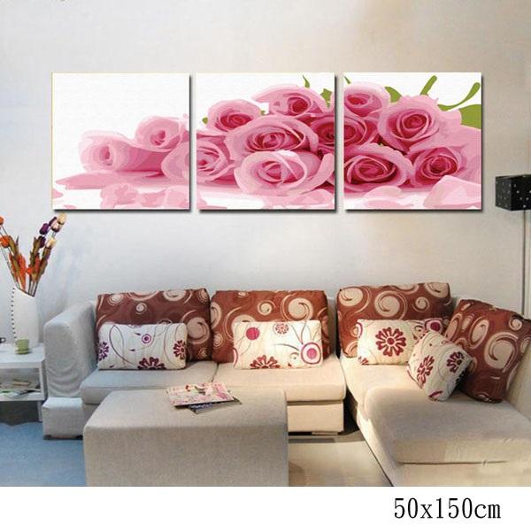 herr malen nach zahlen f r erwachsene xxl mit aufgespannter staffelei 3 bilder 50cm x 50 cm x3. Black Bedroom Furniture Sets. Home Design Ideas