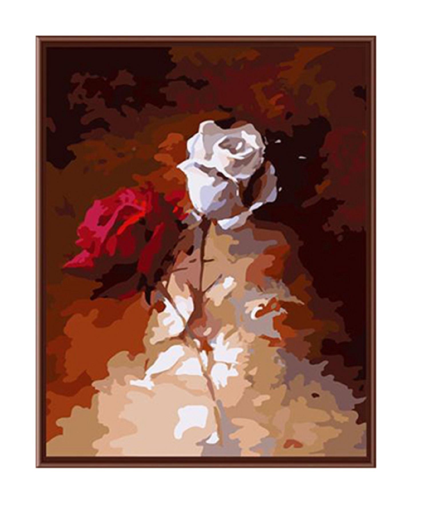 herr malen nach zahlen f r erwachsene xxl mit aufgespannter staffelei bild 50cm x 65cm rosen. Black Bedroom Furniture Sets. Home Design Ideas